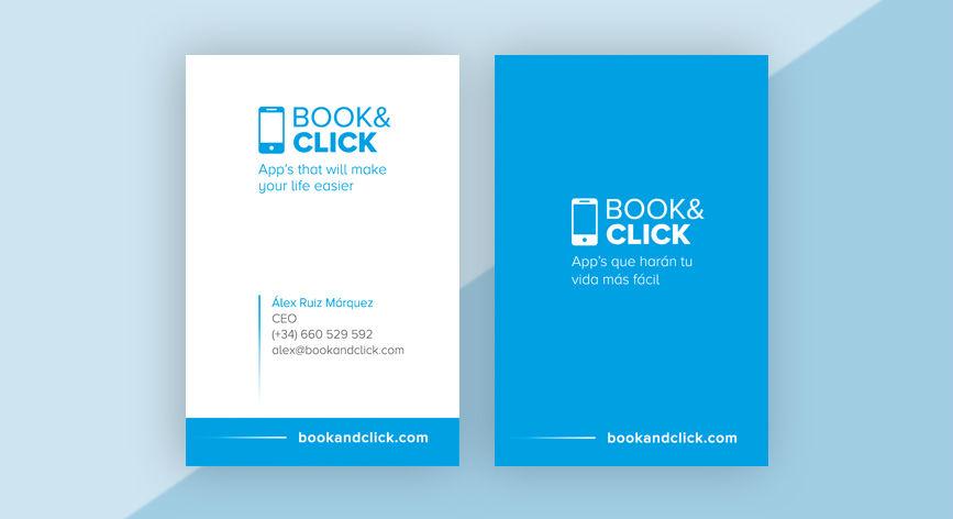 moderno diseño de tarjetas de visita empresa software app