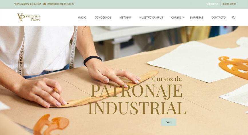 elegante diseño web patronaje industrial
